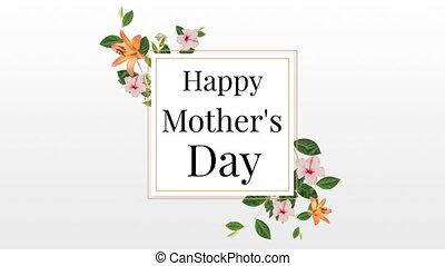 jour, texte, mères, cadre, heureux