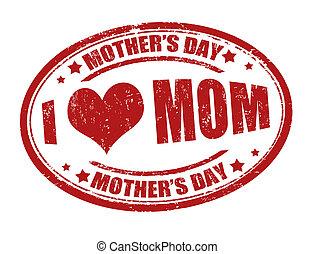 jour, timbre, mère