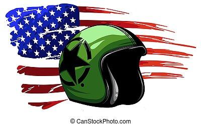jour, vétéran, drapeau, typon, usa, amérique, commémoratif, indépendance