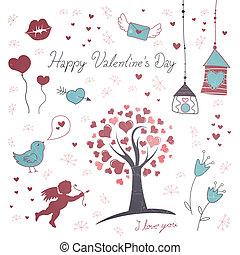 jour valentine, éléments