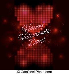 jour valentine, conception, ton, carte, heureux
