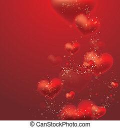 jour valentine, fond, cœurs