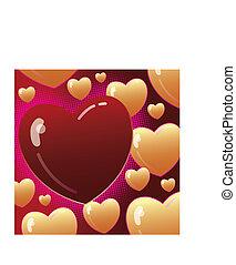 jour valentine, fond, vecteur