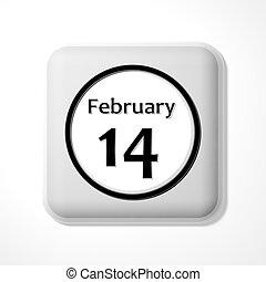 jour valentine, icône
