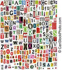 journal, alphabet