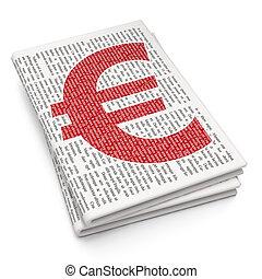 journal, argent, concept:, fond, euro