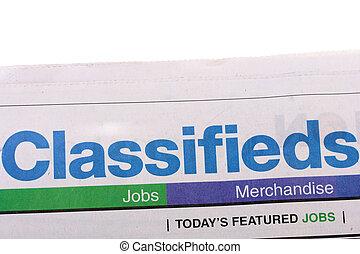 journal, classifieds