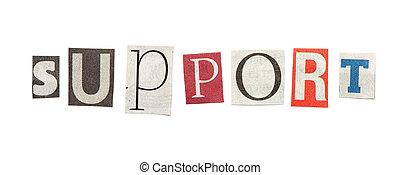 journal, coupure, soutien, lettres