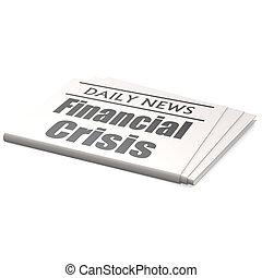 journal, financier, crise