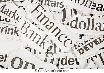 journal, gros titres
