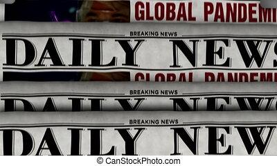 journal, ?, impression, pandémie, global, nouvelles, presse, rupture