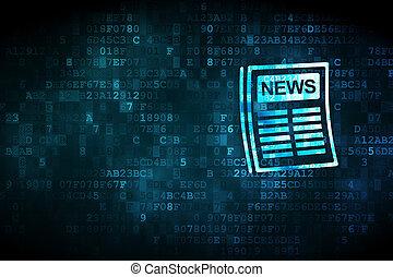 journal, nouvelles, concept:, fond, numérique