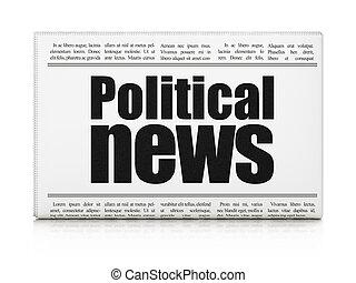 journal, nouvelles, politique, concept:, titre