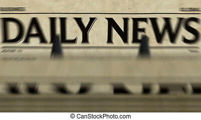 journal quotidien, nouvelles, loopable, production, ?, impression