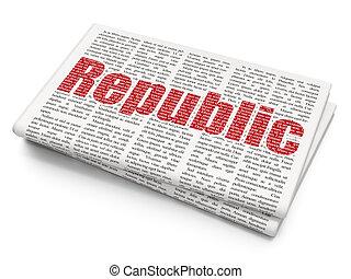 journal, république, politique, concept:, fond