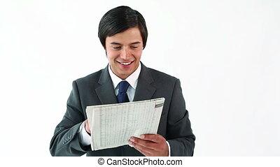 journal, sérieux, directeur, lecture