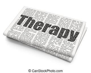 journal, santé, thérapie, concept:, fond