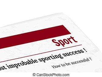 journal, sport, -