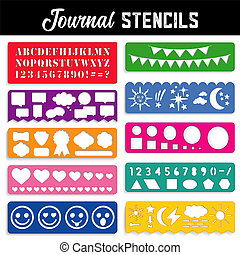 Journal Stencils - Collection of ten templates to create...