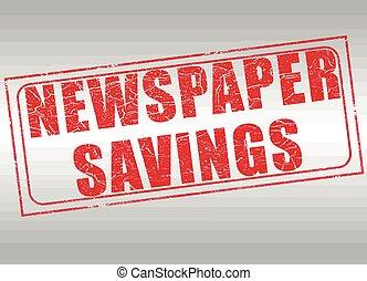 journal, timbre, économies