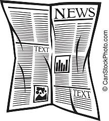 journal, vecteur, icône