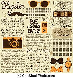 journal, vendange, hipster, seamless