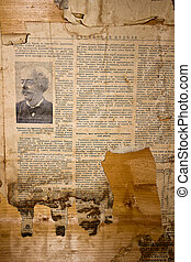 journal, yellowed, vieux