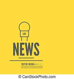 Live news template - Journalism concept. Live news template ...