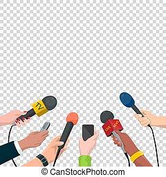 Journalism Concept Vector Illustration in Cartoon Style. Set...