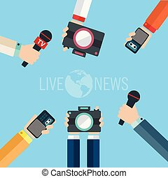 Journalism concept vector illustration in flat style. Vector...