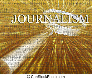 Journalism search illustration - Focusing on journalism...