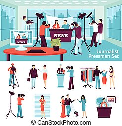 Journalist And Pressman Set - Journalist and pressmen set ...