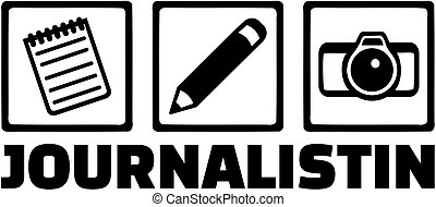 Journalist job icons german - Icons for journalist with ...
