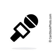 Journalist microphone icon on white background.