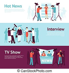 Journalist News Pressman Banner Set - Journalist news ...