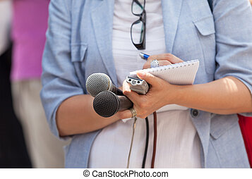 journalist., nieuws, confrence.