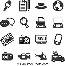 Journalist Or Reporter Icons - This image is a illustration ...