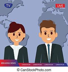 journaliste télévision, titre, couple, rupture, émission, tv, nouvelles