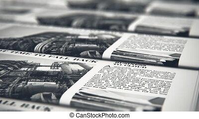 journaux, impression, typographie