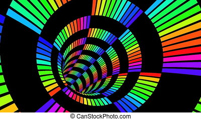 Journey in a 3D abstract tunnel