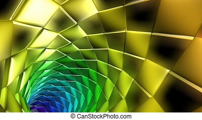 Journey in a 3D tunnel 6 - Journey in a 3D abstract tunnel
