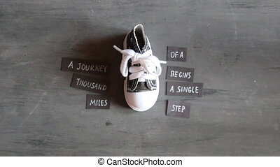 Journey of thousand miles begins with single step, quote and...