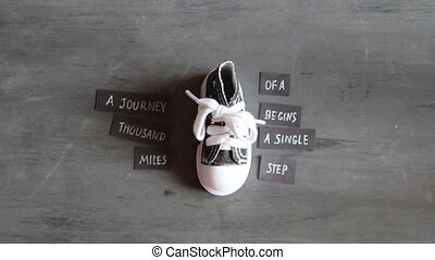 Journey of thousand miles begins with single step, tags with...