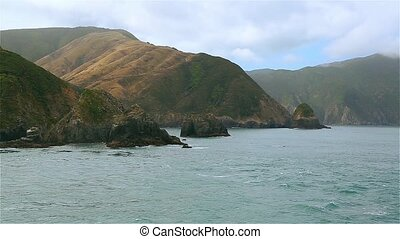 Journey on the sea at Cook Strait