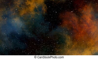 Journey through the Cosmic Clouds of Colorful Nebula -...