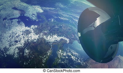 Journey to Earth, Satellite at the Earth orbit connection