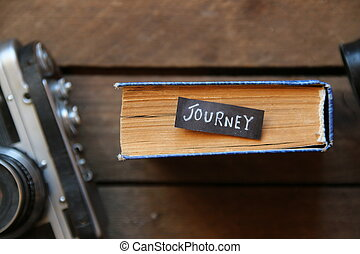 Journey - vintage tag on book
