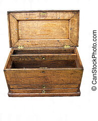 Journeymans Toolbox - Oak and brass journeyman's toolchest,...