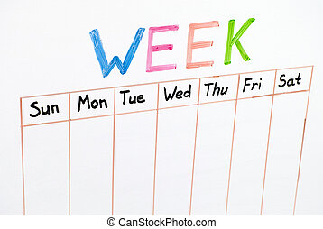 jours, sept, semaine