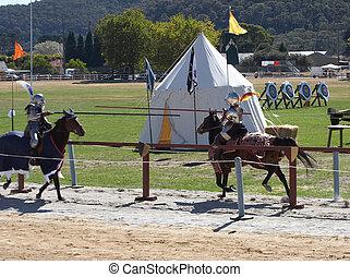 jousting, riddere